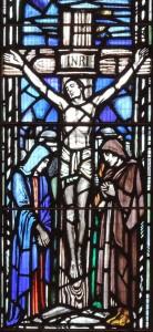 Post 9 (a) Central Apse window - crucifixion, East Kirk, Jan 2014 DSCN0162