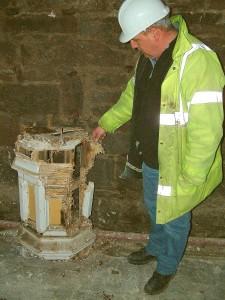 Rotten & Damaged East End of Corbel Boss