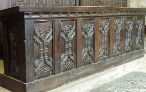 Post 17 (a) Fendour Wood in desk in St Mary's Chapel DSCN0359