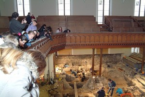 Kirkhill school on visit to archaeology