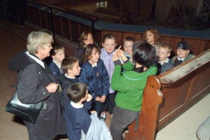 School visit with archaeologist