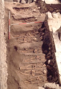 Week 29 Burials between St Mary's (left) and 12th century church