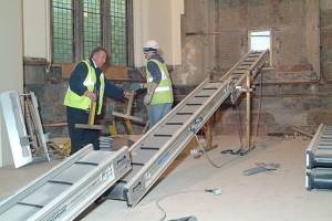 Post 24 (a) Starting work on conveyor
