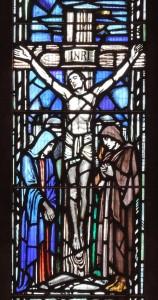 Post 35 Crucifixion, Central Apse window,  East Kirk, Jan 2014 DSCN0162