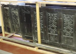 Post 37 (e) Rack storing removed panels DSCN0440
