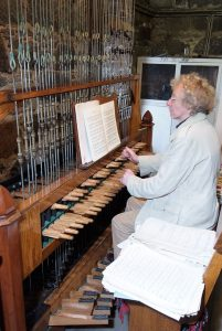 Ronald Leith City Carilloneur Playing the Carillon in St Nicholas Church Aberdeen Art Gallery and Museums Collection