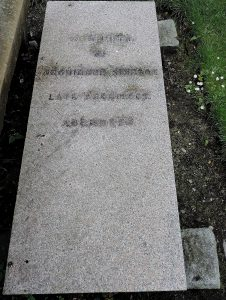 Post 70(b) Archibald Simpson Grave