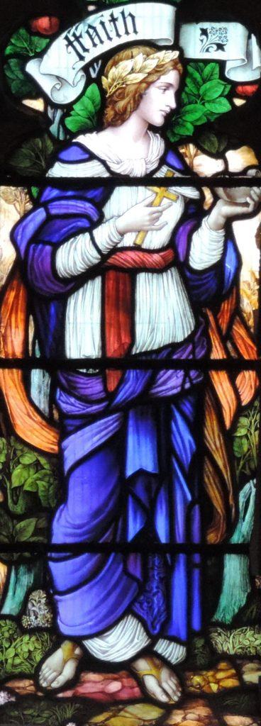 Post 73 Faith window, East Kirk